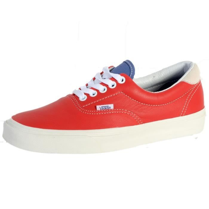 baskets mode basketcanvas/chambray chili, chaussur femme vans vans era 59 39 Rouge