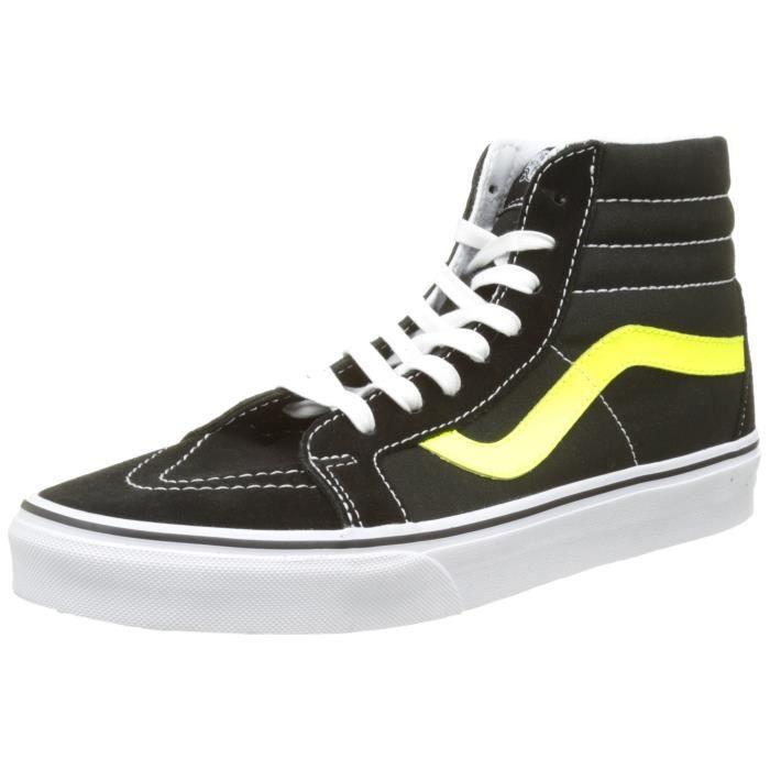 vans noir jaune fluo