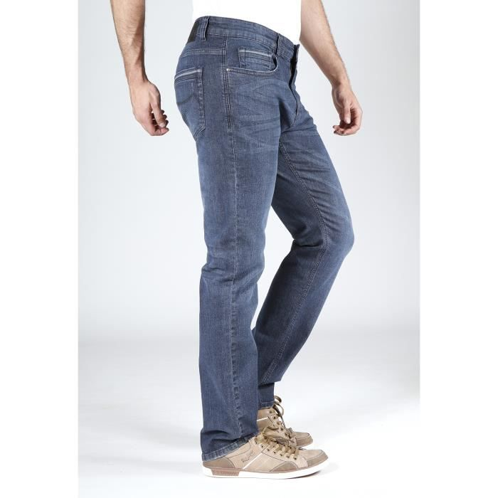 detailed look d5acd 929e9 Rica Lewis Jeans Homme Jeans RL70 coupe droite stretch blue black