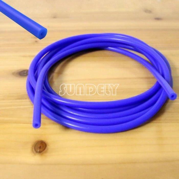 Silicone 5 mm x 5 m pour Aspirateur-Boost-Eau-Tuyau Pipe Line Bleu