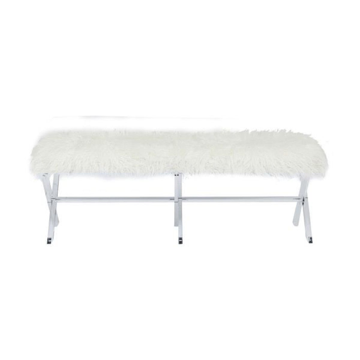banc fur blanc kare design achat vente banc soldes d hiver d s le 11. Black Bedroom Furniture Sets. Home Design Ideas
