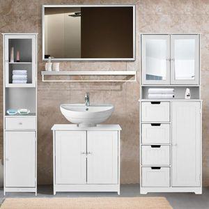 IKayaa Meuble sous lavabo salle de bain Meuble de Rangement ...