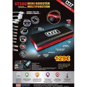 STATION DE DEMARRAGE MINI BOOSTER MULTIFONCTION ST300 MIGHTY SEVEN