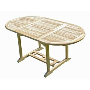 TABLE DE JARDIN  SOLO Table de jardin en teck 6/8 places
