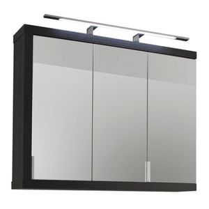 armoire murale salle de bain avec miroir achat vente. Black Bedroom Furniture Sets. Home Design Ideas