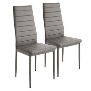 6 Lot chaises de rembourees gris kZXiOuP