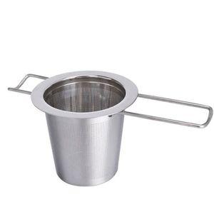 2 en 1 Tube En Acier Inoxydable Infuseur Thé en vrac Passoire à Thé Filtre Spoon S