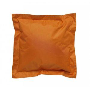 COUSSIN Lot de 2 Coussins Extérieurs Orange 45 x 45 x 4 cm