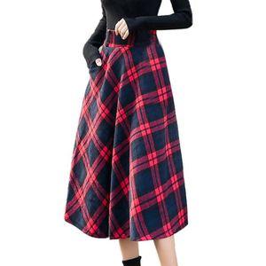 JUPE Jupe longue taille haute élastiquée pour femmes A-