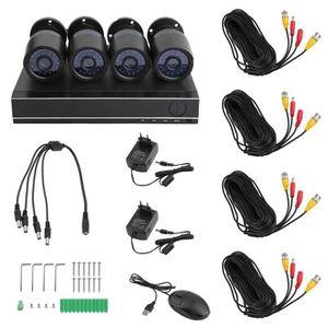 CAMÉRA DE SURVEILLANCE 720p 4PCS Caméra de surveillance 4CH étanche 1500T