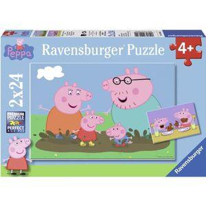 PUZZLE PEPPA PIG Puzzle Vie famille 2x24 pcs