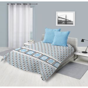 COUETTE Couette imprimée 220x240 DREAM BLEU Bleu