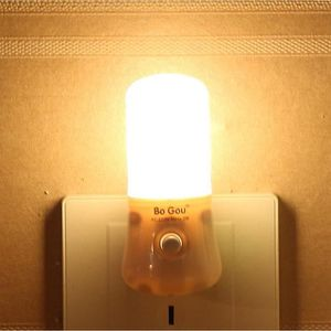 2 X AUTOMATIQUE PLUG-IN lumière nuit 1 W avec 8 lumières DEL Idéal pour passage chambre à coucher