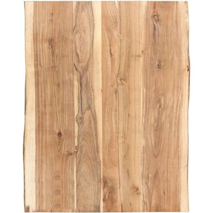 Dessus de table Bois d'acacia massif 80x60x3,8 cm-TIP