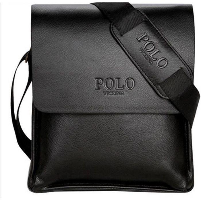 Sacoche Homme D'affaires Sac Solide PU Cuir iPad Peut être Placé - 24cm * 22cm * 7cm - Noir