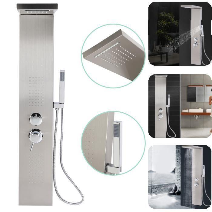 Colonne de douche - Acier inoxydable - Système de douche à pluie - Panneau de Douche Système