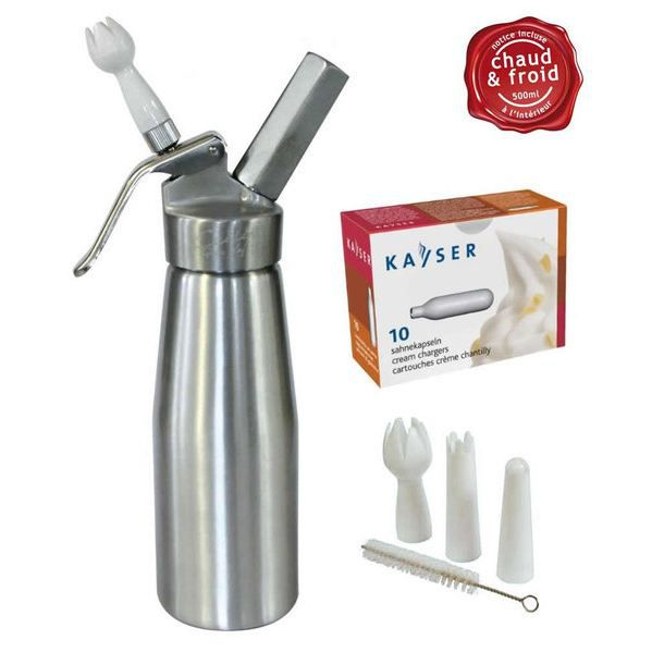 Siphon professionnel + 10 cartouches Kayser