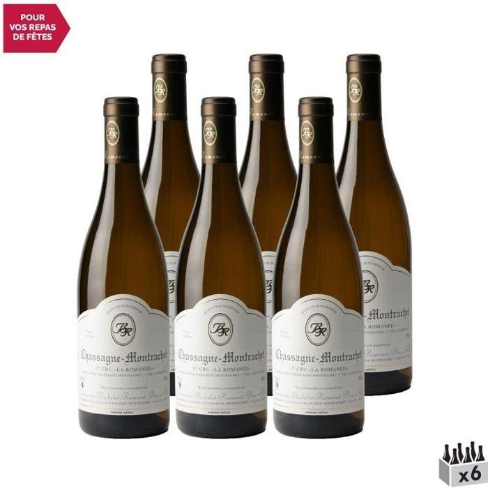Chassagne-Montrachet 1er Cru La Romanée Blanc 2019 - Lot de 6x75cl - Domaine Bachelet-Ramonet - Vin AOC Blanc de Bourgogne
