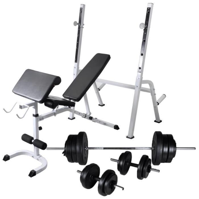 Bancs de musculation - support de poids jeu d'haltères 60.5 kg -150 x 45 x 123 cm