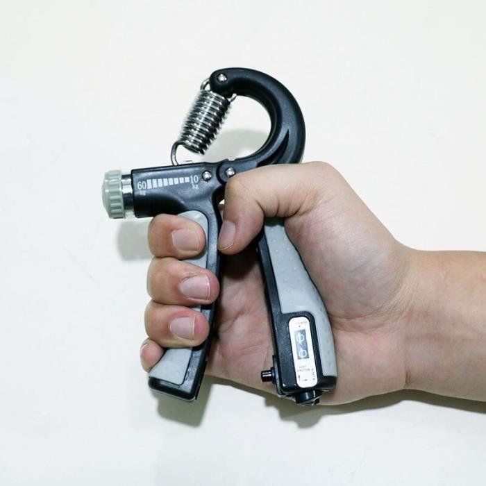 Accessoires Fitness - Musculation,Force d'exercice lourde de doigt réglable d'hommes de poignée de main de forme - Type Gris #B
