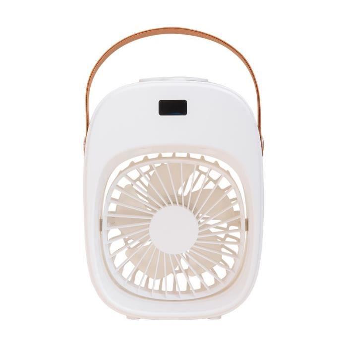 VENCI Mini Climatiseur Mobile Ventilateur De Refroidissement De L'air Pour La Maison - Blanc