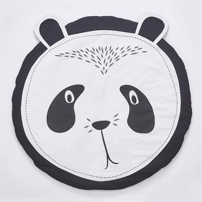 Tapis d'Éveil Panda Tapis de Jeu Rond en Coton Pour Bébé Enfant Mixte Décoration de Chambre b15628 AAA97747