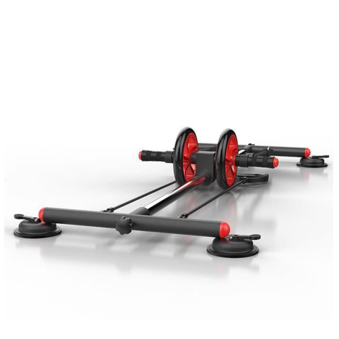 MOYOTEC Entraîneur de Muscle Abdominal Multifonctionnel Abdos Roue abdominale Avec Corde élastique Fitness Maison Gymnase Unisexe