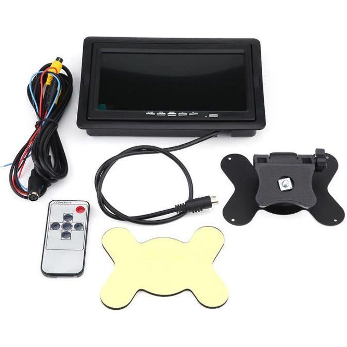 HD 7' Écran de moniteur LCD TFT couleur caméra de recul caméra de recul LCD