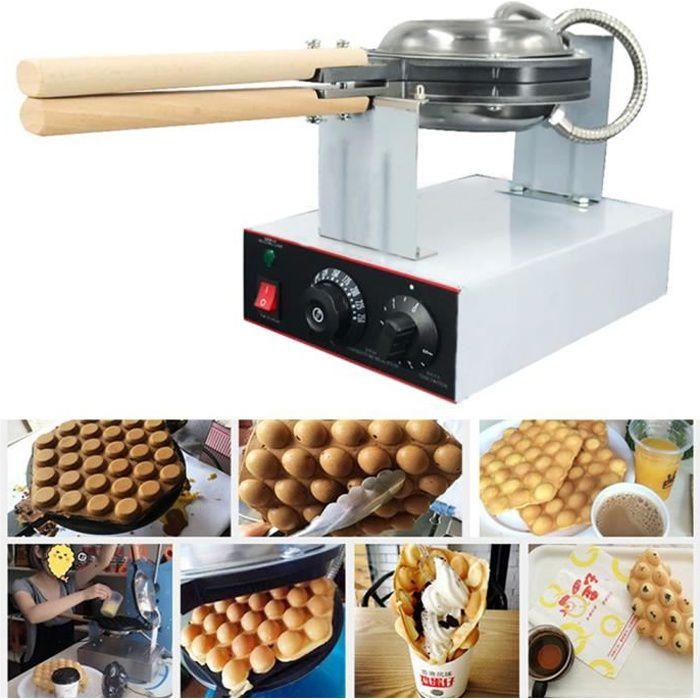 BG Gaufrier à Bulles électrique gaufrier Professionnel aux œufs,adapté aux Desserts familiaux et aux Plats à emporter commerciaux