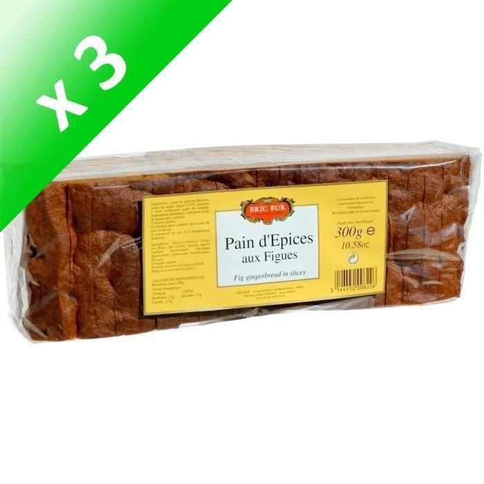 [LOT DE 3] ERIC BUR Pain d'épices au miel et aux figues