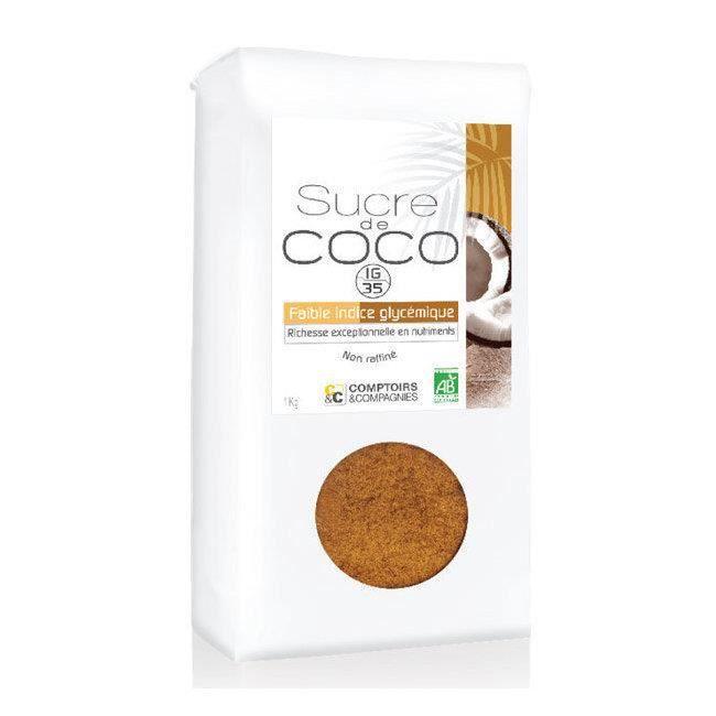 Sucre de coco bio non raffiné - Format économique 1 kg