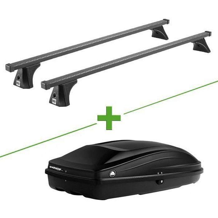 Pack barres et coffre de toit Cruz Oplus fix + Wabb S pour Peugeot 207 5 portes - 3664956357822