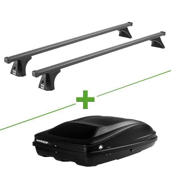 Pack barres et coffre de toit Cruz Oplus fix + Wabb M pour Opel Corsa D 5 portes - 3664956360822