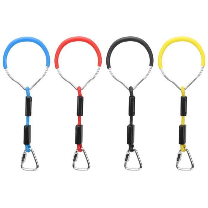 4PCS Anneaux de gymnastique swing coloré Fer + ABS + Polyester-CER