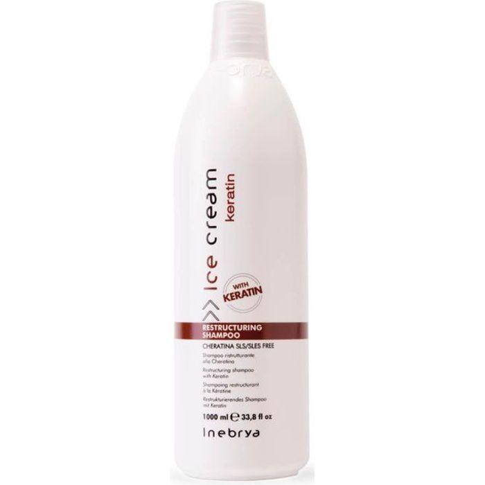 Inebrya Shampoing restructurant à la Kératine 1000ml Sans sulfate