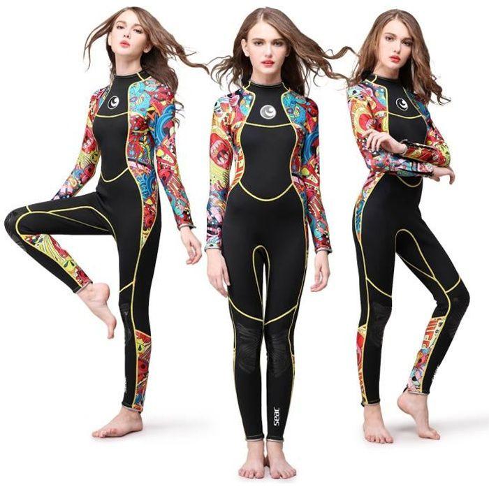 3mm Femmes Natation Wetsuit Dive Suit Néoprène Wetsuit Équipement de sport de l'eau Vêtements de surf