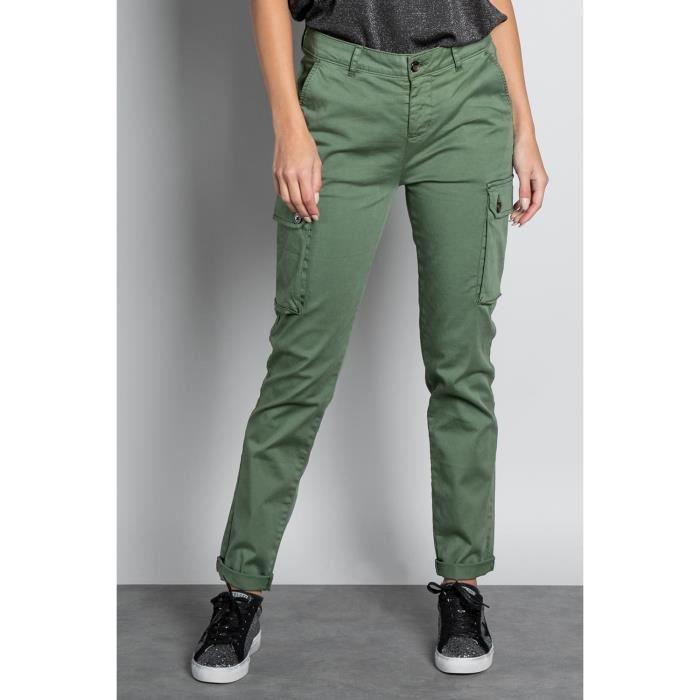 DEELUXE Pantalon cargo slim TESS Cactus