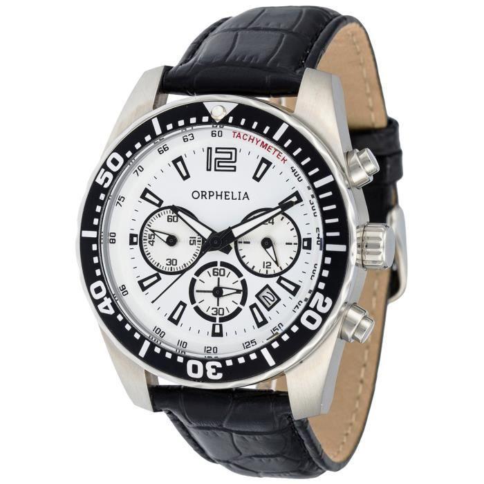 Orphelia - OR53690014 - Montre Homme - Quartz - Chronographe - Bracelet cuir noir