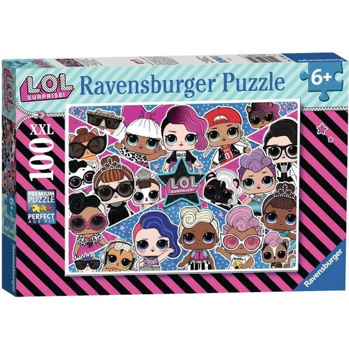 L.O.L. SURPRISE! Puzzle 100 pièces XXL - Amies pour la vie ! - Ravensburger - Puzzle Enfant - Dès 6 ans