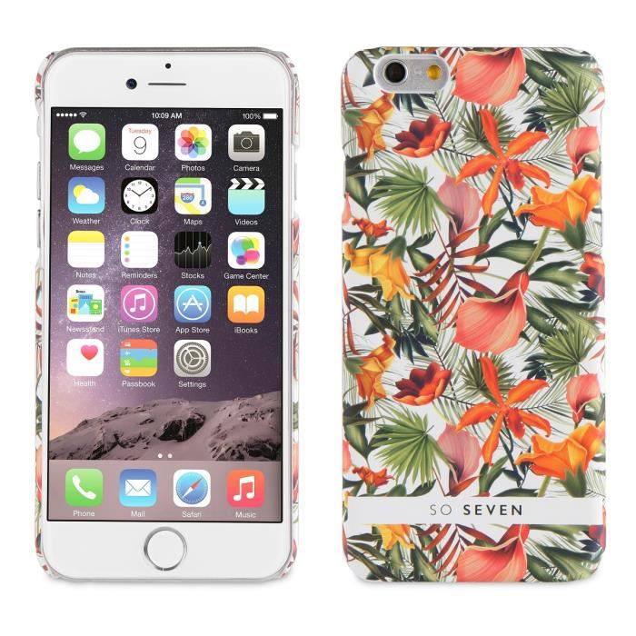 SO SEVEN Bundle JARDIN HIVER Coque + PB 2600 ORANGE Vert IPHONE 6/6S