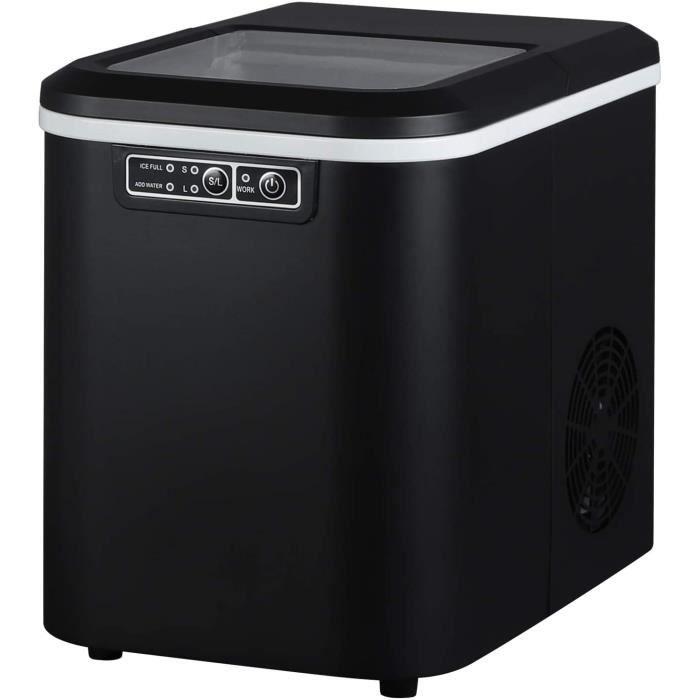 WOLTU Machine à glaçons, Machine à glace, 2.2 L, 25x36x31 cm, Noir
