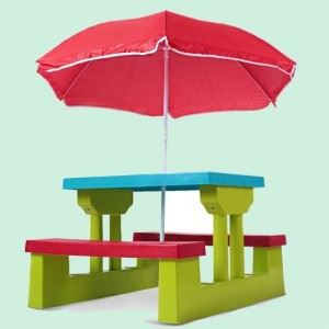 table et bancs parasol pour enfant achat vente salon de jardin table et bancs parasol po. Black Bedroom Furniture Sets. Home Design Ideas