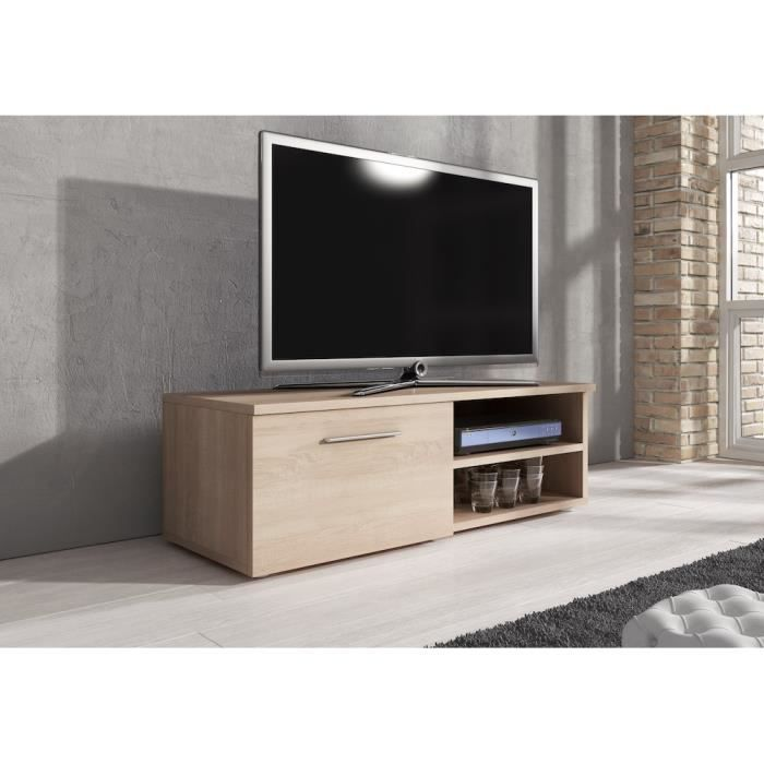 reno meuble tv contemporain d cor ch ne 120 cm achat vente meuble tv reno meuble tv. Black Bedroom Furniture Sets. Home Design Ideas