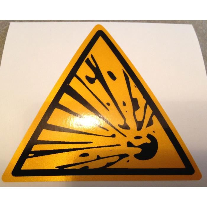 Sticker signalisation danger explosion achat vente for Stickers exterieur