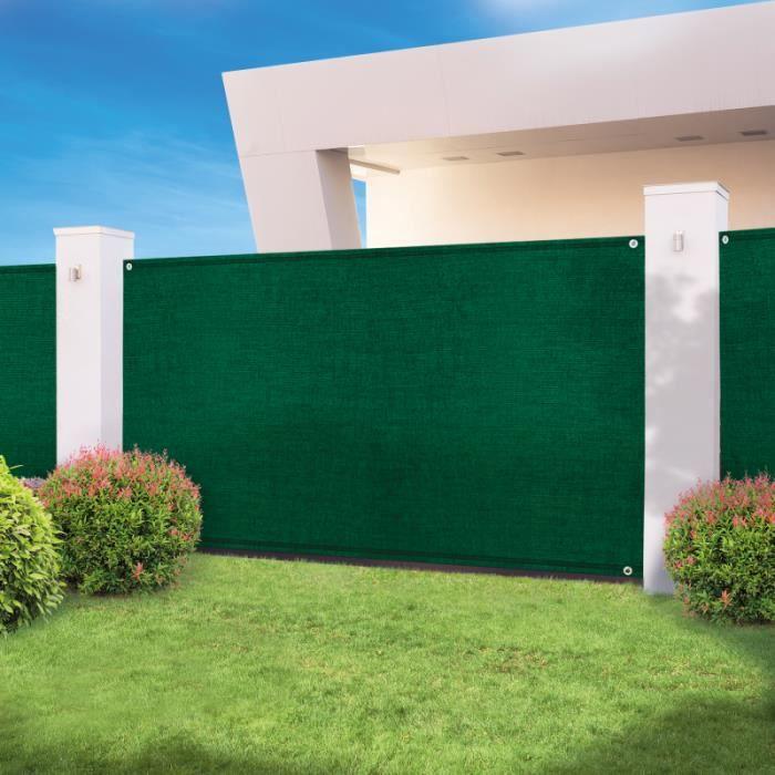 CLÔTURE - GRILLAGE Brise vue haute densité vert 1,5 x 10 m 300 gr/m²