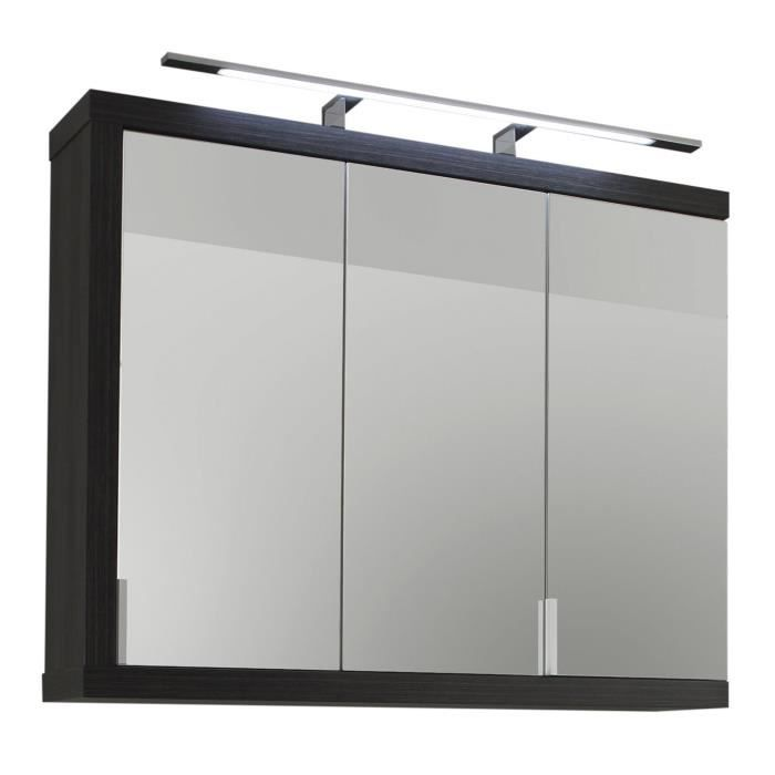 armoire murale de salle de bain avec miroir argent cendr. Black Bedroom Furniture Sets. Home Design Ideas