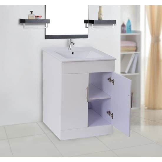 meuble armoire salle de bain avec lavabo blanc achat. Black Bedroom Furniture Sets. Home Design Ideas