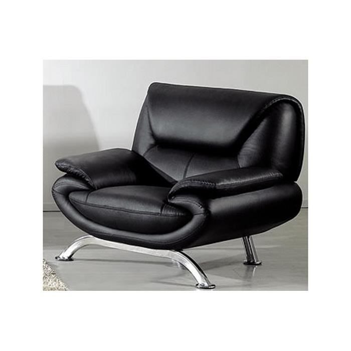 fauteuil 1 place en cuir italien jonah achat vente. Black Bedroom Furniture Sets. Home Design Ideas