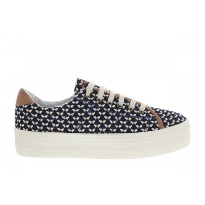 Baskets mode - No Name Plato Sneaker Beck (Bleu) Papillon Navy
