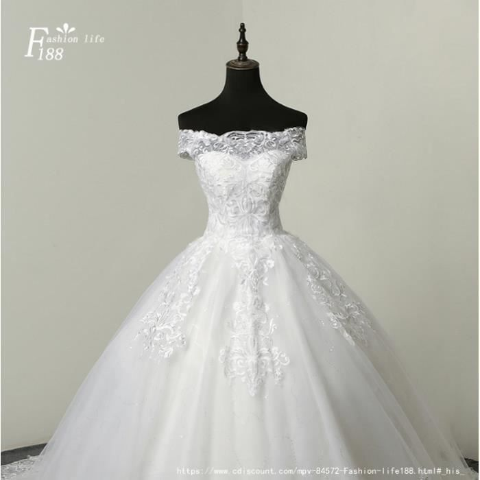 Nouvelle mariée mariage robe princesse blanche